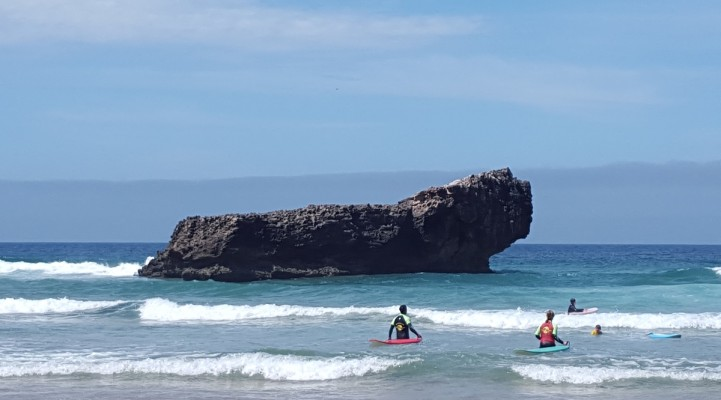 Baai Sagres Surfers water