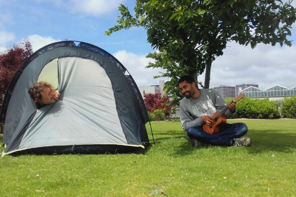 Op het dak kamperen? Ja!