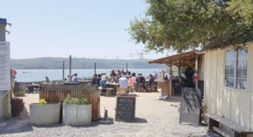 Tomales Bay: oesters voor lunch bij The Boat Oyster Bar.
