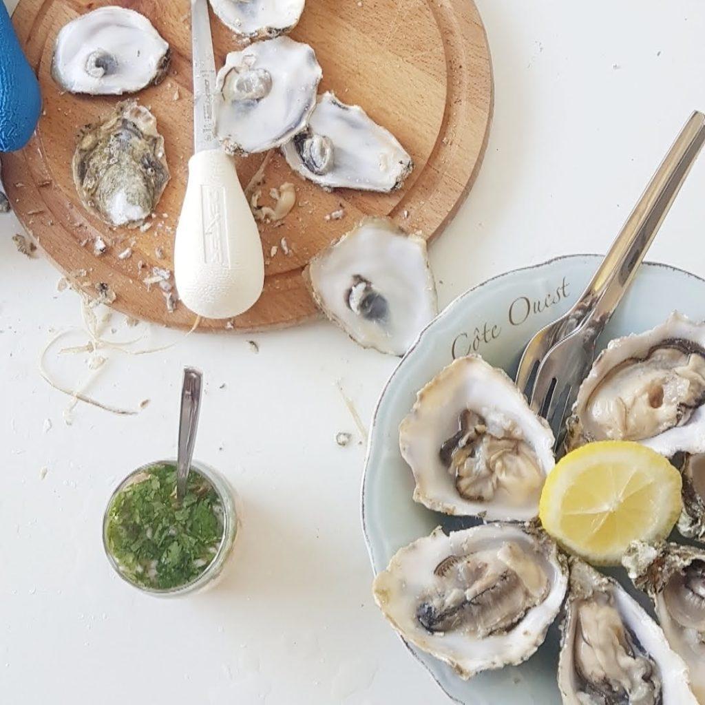 De beste vinaigrette voor oesters, de Hog Wash.