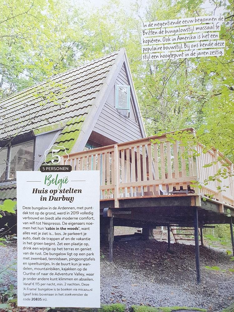 Kijk! Ons A-frame vakantiehuis in Libelle